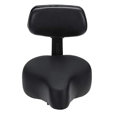 ZCQBCY Bicycle Saddle Seat with Backrest Support Comfort Bike Seat Electric Bike Scooter Wide Soft Pad Men Women Cycling Seat Cushion