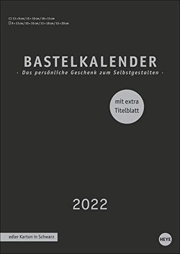 Bastelkalender schwarz A4 2022