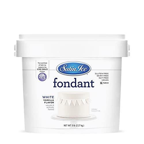 Satin Ice White Fondant, Vanilla, 5 Pounds