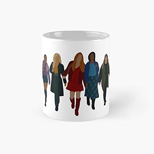 Fat.e The W.i.nx Sa.g.a Group Graphic Walking Classic Mug - Gift The Office 11 Ounces Funny White Coffee Mugs-nilinkep