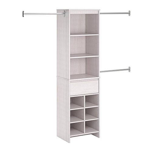 Ameriwood Home Adult Closet Organizer, Vintage White