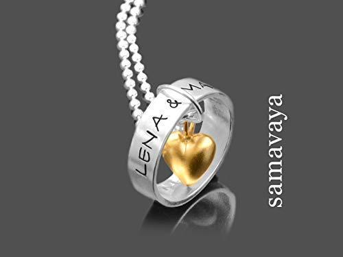 Namenskette Silber LIEBESRING 925 Kette mit Gravur