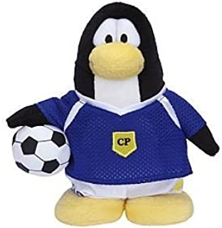 "Rare Club Penguin Soccer Player Blue Team 6.5"" Plush  Without Coin or Code"
