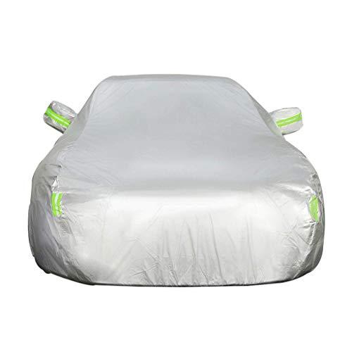 ACYCY Autoschutzhülle Kompatibel mit Mini Cooper Cabrio 4-Jahreszeiten-Universalverdickung Plus samtwasserdichter Anti-Schnee-Flammschutz Winter Vereisung Anti-UV-Belichtung, Silber