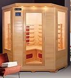 Bagno Italia Sauna Infrarossi da 150x65x120cm 4 posti radio ionizzatore e cromoterapia inclusi l