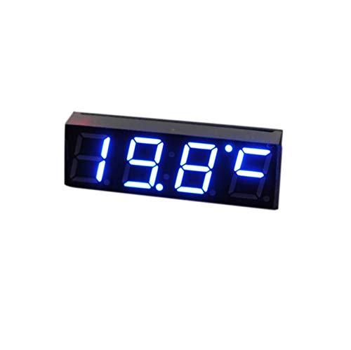 LED-Anzeige Digitaluhr Auto Elektrische Uhr Digitaluhr LED-Temperaturuhr Thermometer Voltmeter Grün Blau Rot Hellblau