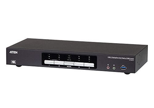 Aten CS1944DP 4-Port USB 3.0 KVM-Switch, 4K DP Schwarz