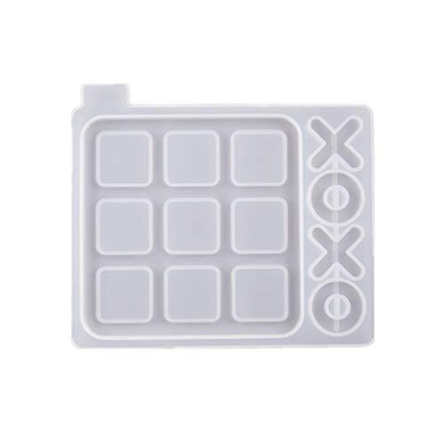 Hergon Tic Tac Toe - Molde de resina de silicona para manualidades