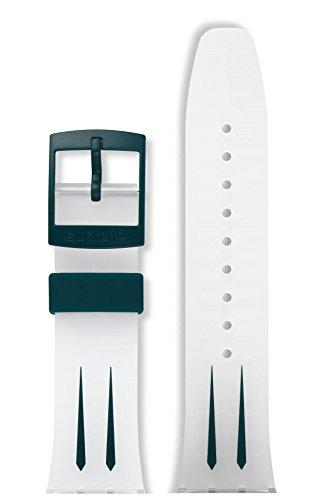 Swatch ASUUK402 - Correa de repuesto para reloj Scuba Libre, 21 mm, color blanco
