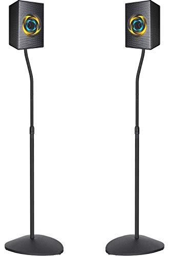 PERLESMITH Adjustable Height Speaker Stands-Extend 31-48 Inch-Hold Small Satellite Bookshelf &...