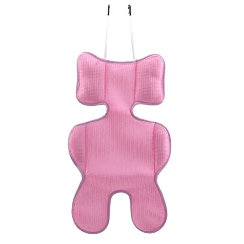 MAJFK Alfombrilla para cochecito de bebé, transpirable, malla 3D, para silla alta, color rosa