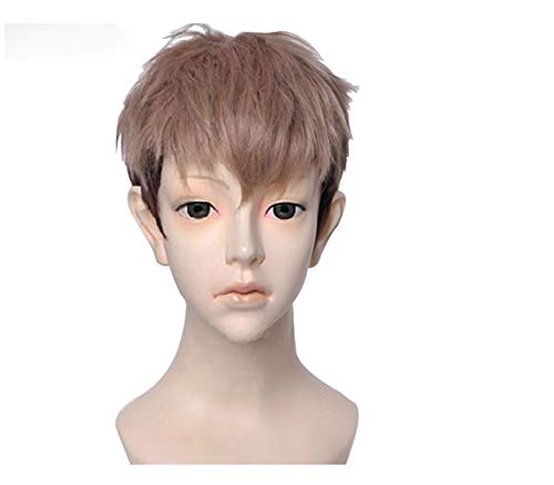 Attack On Titan Jean Kirschtein Kirstein Cosplay Wig Short Brown Mixed Color Heat Resistant Synthetic Hair Wigs + Wig Cap