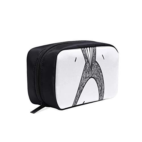 Sac de bébé à la mode noir lettres de mode minimaliste ligne sacs de mode d'été sac de maquillage d'été sacs de Tolitery voyage sacs cosmétiques étui multifonctionnel sac cosmétique de base