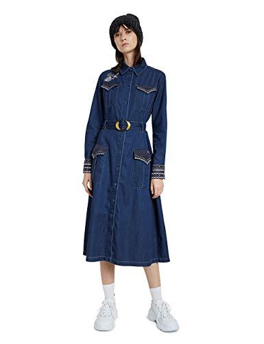 Desigual Womens Vest_Castiel Casual Dress, Blue, 34