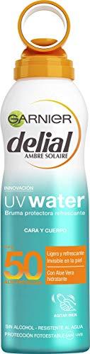 Garnier Delial UV Water Bruma Protectora Refrescante para Cuerpo y Rostro, Protección Muy Alta SPF50 - 200 ml