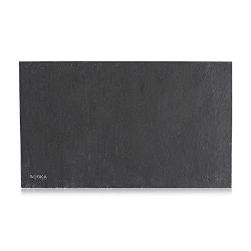 Boska Servierbrett Schiefer Light M/ein makelloses, robustes Brett / 25 cm/Schiefer/Schwarz / 250 x 150 x 6 mm