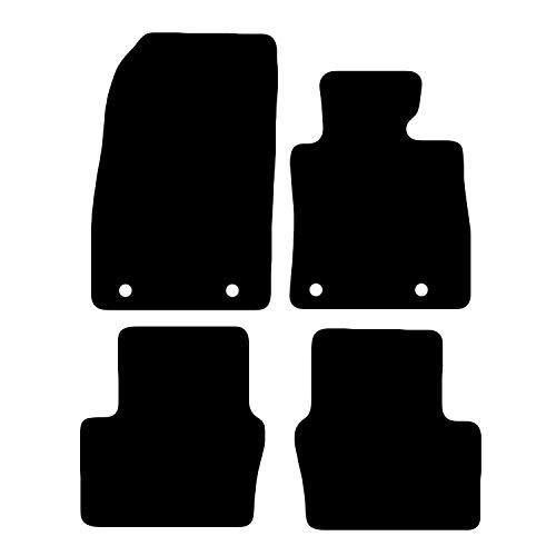 Carsio CARP-CUT-3503-(39 x 4) Alfombrillas para Maz-da 2 2015 en adelante, Juego de 4 Piezas con 4 Clips
