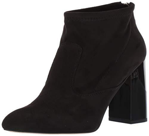 Franco Sarto Women's Kortney Ankle Boot, Black Stretch Suede, 9.5 M US