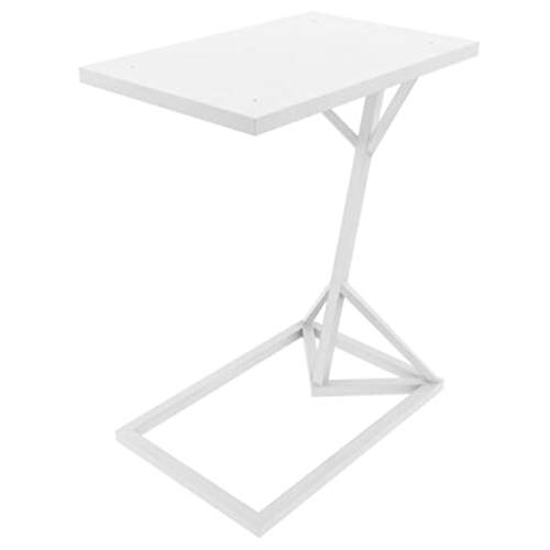 GYX-Coffee Tables Metal White Side End Laptop Table Sofa Couch Console Stand