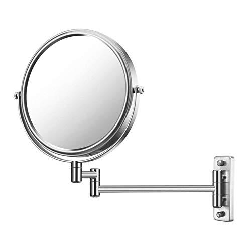 Kosmetikspiegel Wandmontage mit LED-Licht/doppelseitige 360°-Drehung / 8 Zoll/Badezimmer oder Hotel (7-fache Vergrößerung) schminkspiegel