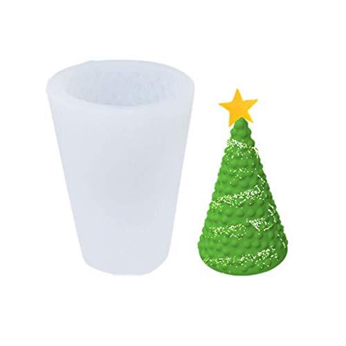 N/A. Molde de vela de la casa de la nieve del árbol de Navidad 3D, molde de jabón de silicona para hacer manualidades de cocina DIY Cake Chocolate Decoración Herramientas para hornear