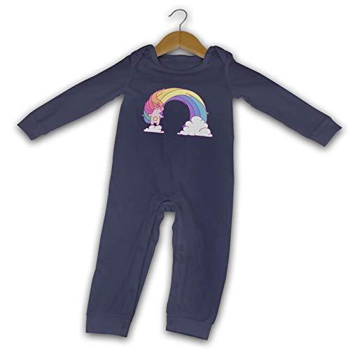WushXiao Magic Fantasy Pink Horse Long Comfort Baby Crawler Black Gr. 6 Monate, navy