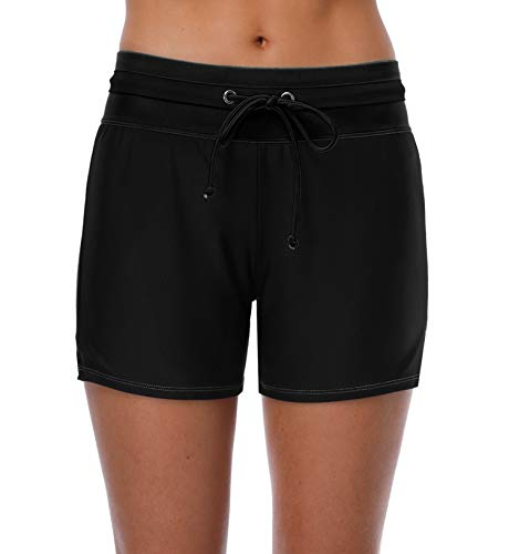 BeautyIn Bikinishorts für Damen Elastisch Hotpants Frauen Badehosen Schwimmen Strandshorts M