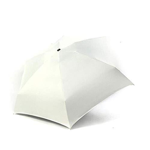 BDWS Regenschirm Neuer 180g Mini Cool Sonnenschutz 5-Fach Sonnenschirm Innovativer ultraleichter Taschenklappschirm 18 Styles China White haveblack