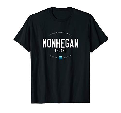 Monhegan Island Maine Beach Waves Gift T-Shirt
