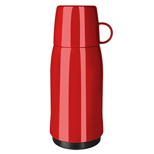 Emsa 502444 ROCKET, Bouteille isotherme avec gobelet, fermeture à vis, 100% hermétique, 500ml, Rouge