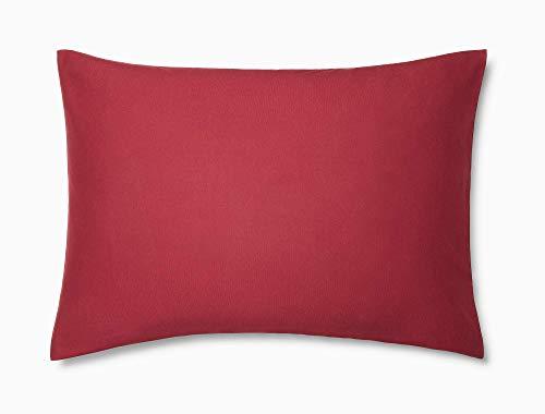 Calvin Klein Modern Cotton Harrison Pillowcase Pair, King, Burgundy
