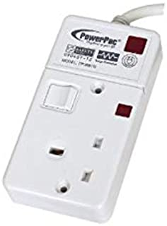 PowerPac PP3881N 1 Way Extension 3Meter W/Neon,Surge,2 Pin Direct