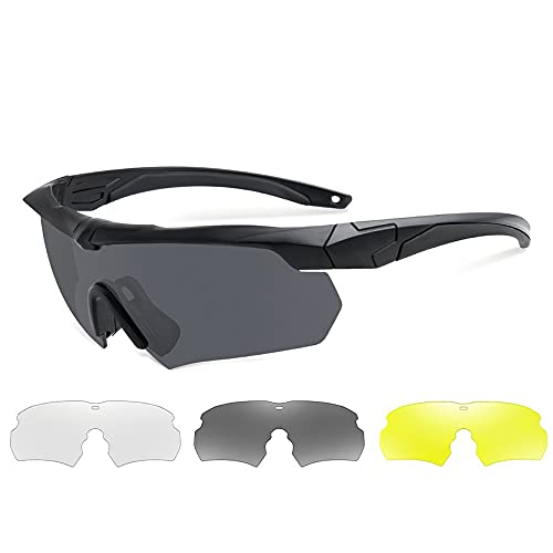 WEFH Gafas de Montar polarizadas Protección UV Multifuncional Gafas a Prueba de explosiones Gafas a Prueba de Balas Miopía A Prueba de Viento