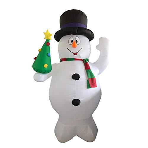 luckything LED 2.4M Weihnachten Schneemann Aufblasbar Weihnachtsdeko Beleuchtet Garten,Aufblasbar Snowman Weihnachtsfigur Aufsteller Aussendeko Aufblasbar Selbstaufblasend Airblown Weihnachtsdeko
