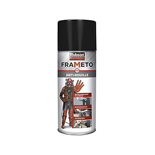 Rubson Frameto Stop-Rouille, Traitement antirouille pour intérieur et extérieur, Convertisseur de rouille à effet immédiat, Spray vaporisateur coloris gris aluminium 400 ml