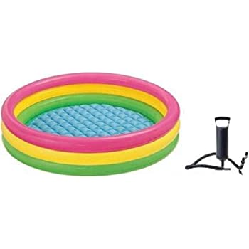 Buy G Karuna Bath Tub 3feet Inflatable With Air Pump For Kids Inflatable Swimming Pool Multicolour Online At Low Prices In India Amazon In