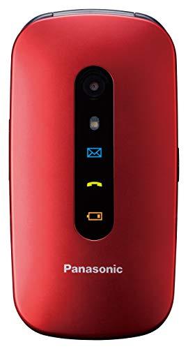 """Panasonic TU456 - Teléfono Móvil para Mayores (Pantalla Color TFT 2.4"""", botón SOS, compatibilidad audífonos, Resistente a Golpes, Bluetooth, cámara) Color Rojo"""