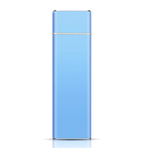 Externe Festplatte 2tb, Festplatte Extern USB3.1 Type C Festplatte für Mac/PC/MacBook/Xbox One/Xbox 360/Chromebook (2TB, Blau)