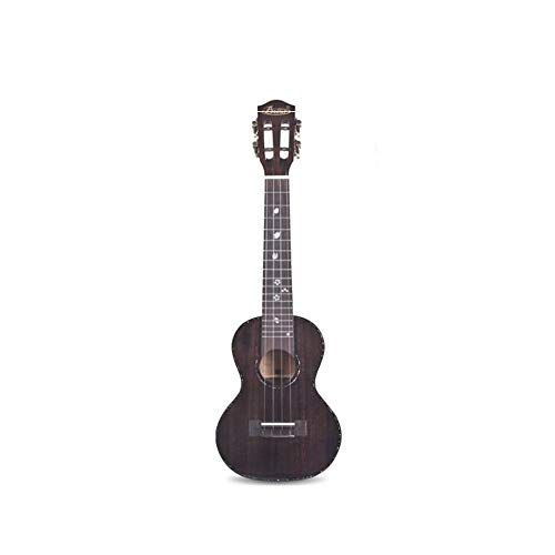 Miiliedy Full Veneer Ukulele Cute Fashion 23 Inch Beginner Adult Children Practice Playing Professional Small Guitar the Best Coming Gift with Gig Bag (Color : Black)