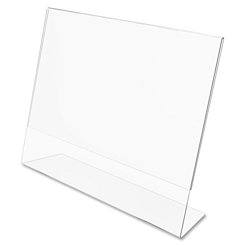 """(6-Pack) 4' X 6"""" Picture Frame Acrylic Slanted Displays, Horizontal Angled, Photo Frame, Sign Holders, Clear, Self-Standing, For Desk, Bed-Stand, Living Room, And Office, (6-Pack. Horizontal.)"""