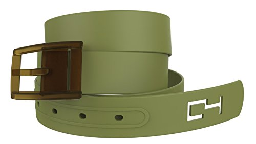 C4 Classic Premium Belt - Cut To Fit Fashion Belt – Adjustable Waist Belt with Buckle Fits up to 44 Inch Pants Size - Olive Strap with Olive Buckle