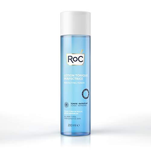 RoC - Toner Perfezionante - Detergente Viso - Sblocca i Pori - Tonico Senza Alcool - Tutti i tipi di Pelle - 200 ml