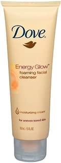 Dove Energy Glow Foaming Facial Cleanser, 5-Fluid Ounce