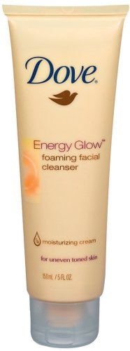 Dove Energy Glow Foaming Facial Cleanser, 5-Fluid Ounce
