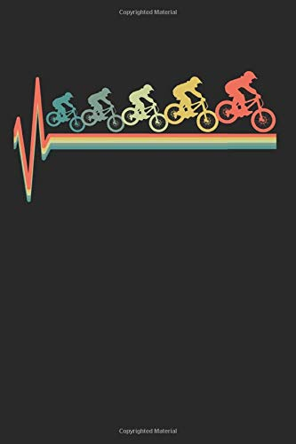 MTB Mountain Bike Mountainbike Heartbeat Retro Gift for Birthdays and Christmas: 6x9 Notebook Journal 120 Pages Dot Grid