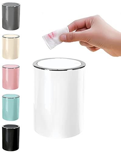 KW Clappe Poubelle de comptoir Blanc 1,7 l