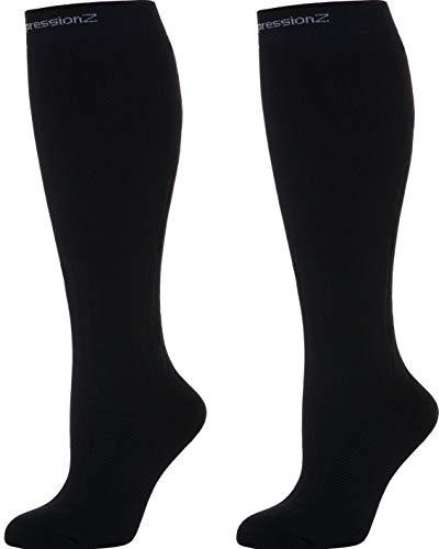 CompressionZ Below Knee High Compression Socks (1 Pair), 20-30mmHg, Small - Blue