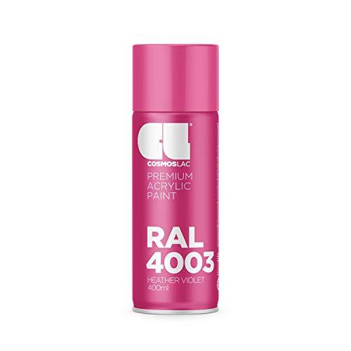 Cosmos LAC Acryllack Sprühdose in vielen RAL Farbtönen - 400ml Spraydose perfekt für DIY, Upcycling und andere Lackierarbeiten geeignet (RAL 4003 - Erikaviolett)