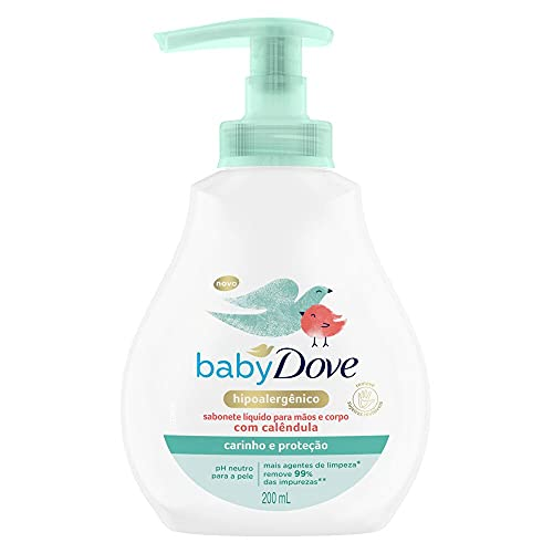 Sabonete Líquido Infantil com Calêndula, 200Ml, Hidratação Sensível Unit, Dove Baby