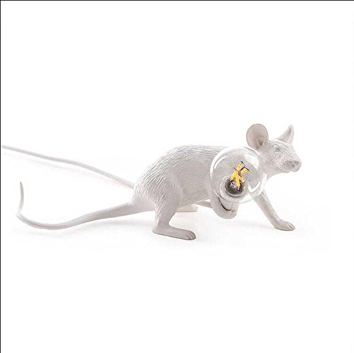 Lampe de bureau or souris rat lumières lampe or noir animal souris souris de table lampe lumières cadeau enfants décorer mignon LED veilleuses (blanc, se coucher)
